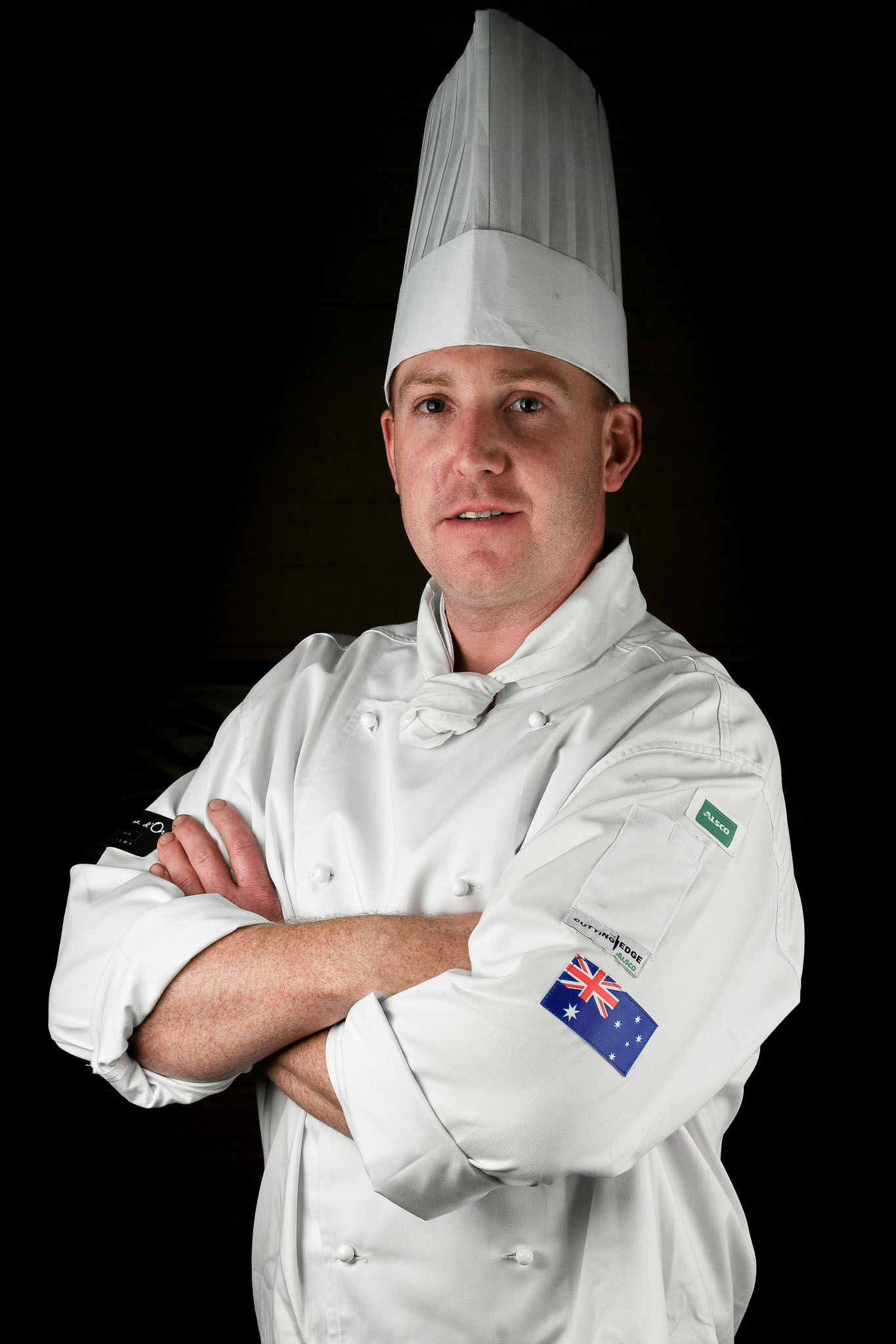 Melbourne, 30 May 2017 - Michael Cole of the Georgie Bass Café & Cookery in Flinders poses for a photograph at the Australian selection trials of the Bocuse d'Or culinary competition held during the Food Service Australia show at the Royal Exhibition Building in Melbourne, Australia. Photo Sydney Low